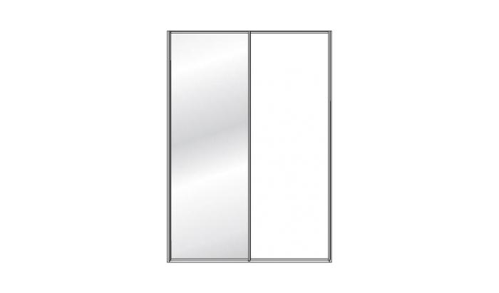 2 Door 1 Mirror Sliding Wardrobe (Mirrored door left or right)