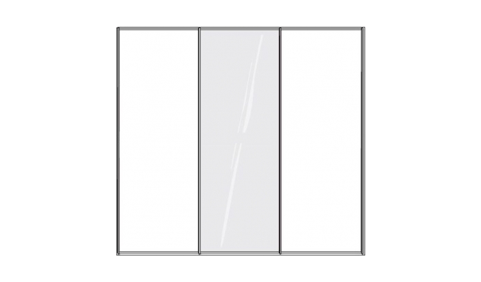 3 Door 1 Mirror Sliding Wardrobe
